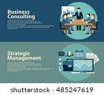 flat style business success... | Shutterstock .eps vector #485247619