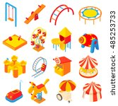 entertainment park icons.... | Shutterstock .eps vector #485253733