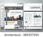 brochure design template vector.... | Shutterstock .eps vector #485257354