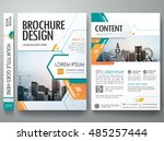 cover book presentation... | Shutterstock .eps vector #485257444