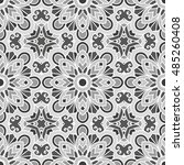 seamless pattern with ethnic... | Shutterstock .eps vector #485260408