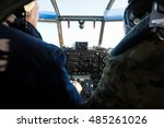 an2's cockpit with pilots | Shutterstock . vector #485261026