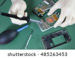 phone repair chip | Shutterstock . vector #485263453