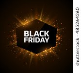 black friday advertisement... | Shutterstock .eps vector #485264260