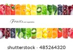 fresh color fruits and... | Shutterstock . vector #485264320