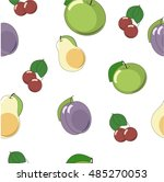 fruits seamless vector pattern. ... | Shutterstock .eps vector #485270053