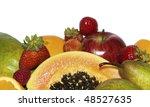 ripe of fresh fruit  isolated... | Shutterstock . vector #48527635