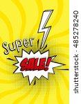 super sale vector design with... | Shutterstock .eps vector #485278240