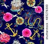 fantasy seamless background... | Shutterstock . vector #485278300