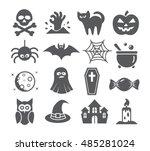 halloween icons | Shutterstock . vector #485281024