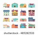 big set of houses  buildings... | Shutterstock . vector #485282533