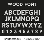 wooden alphabet with letters... | Shutterstock . vector #485283400