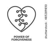 power of forgiveness thin line... | Shutterstock .eps vector #485289850