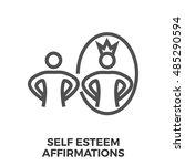 self esteem affirmations thin...   Shutterstock .eps vector #485290594