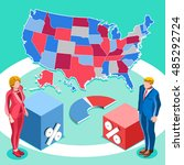 us map election infographic... | Shutterstock .eps vector #485292724