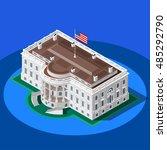 us usa president election... | Shutterstock .eps vector #485292790