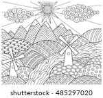 doodle pattern in black and