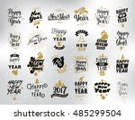 happy new year 2017 typographic ... | Shutterstock . vector #485299504