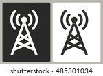 communication tower   black and ... | Shutterstock .eps vector #485301034