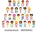 kids alphabet vector | Shutterstock .eps vector #48530461