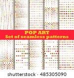 dotted  pop art seamless... | Shutterstock .eps vector #485305090