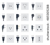 electric outlet illustration on ... | Shutterstock .eps vector #485305288
