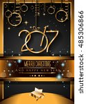 2017 happy new year background... | Shutterstock .eps vector #485306866