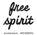 slogan typography with brush | Shutterstock .eps vector #485308096