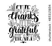 give thanks with a grateful... | Shutterstock .eps vector #485315854