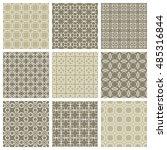 seamless geometric line... | Shutterstock .eps vector #485316844
