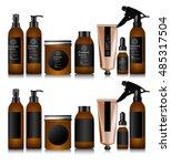 realistic brown bottle for... | Shutterstock .eps vector #485317504