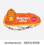 navratri offer template with 50 ... | Shutterstock .eps vector #485319058