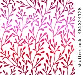 seamless floral pattern. retro... | Shutterstock . vector #485324128
