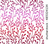 seamless vector floral pattern. ... | Shutterstock .eps vector #485324134