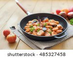 homemade gnocchi with tomato... | Shutterstock . vector #485327458