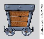 wooden mine cart