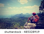 Young Woman Hiker Enjoy The...
