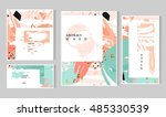 set of artistic creative... | Shutterstock .eps vector #485330539