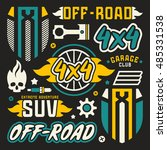 vinyl stickers and badges for... | Shutterstock .eps vector #485331538