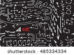 hand drawn doodle seamless... | Shutterstock .eps vector #485334334
