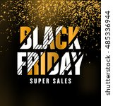 Black Friday Sale Typographic...