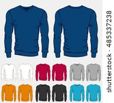 set of colored sweatshirts... | Shutterstock .eps vector #485337238