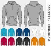 set of colored hoodies... | Shutterstock .eps vector #485337310
