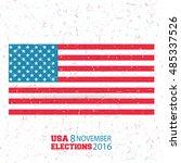 november 8th  vote day in us ... | Shutterstock .eps vector #485337526