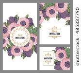 vintage delicate invitation... | Shutterstock .eps vector #485337790