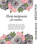 vintage delicate invitation... | Shutterstock .eps vector #485337919