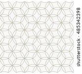 Stock vector seamless geometric pattern circle pattern line monochrome elements vector 485342398