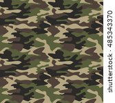 camouflage pattern background... | Shutterstock .eps vector #485343370