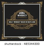 vintage label design for... | Shutterstock .eps vector #485344300
