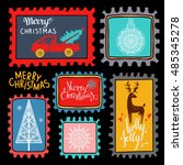 christmas holiday marks. icons  ... | Shutterstock .eps vector #485345278